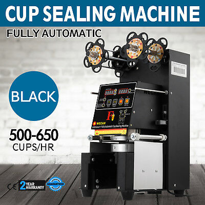 Fully Automatic Tea Cup Sealing Machine 500~650 Cups/H Digital Control LCD Panel