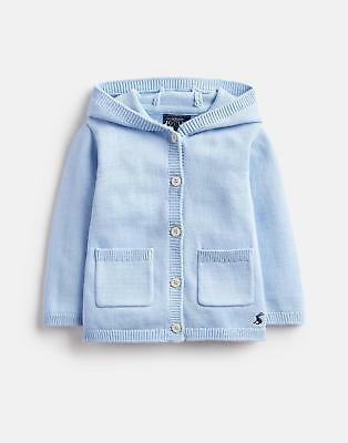 Joules 124960 Character Knitted Hood Cardigan in LIGHT BLUE STEEL