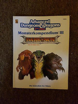 AD&D/Advanced Dungeons & Dragons -Dark Sun Monsterkompendium 3 - TSR 2405G