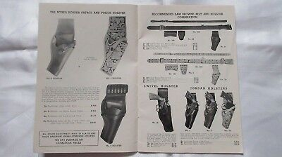 Circa 1944 S.D.Myers Holsters-Belts Artleather Elpaso Texas Catalogue & Order Bo