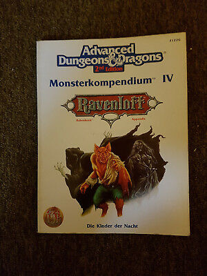 AD&D/Advanced Dungeons & Dragons -Ravenloft Monsterkompendium IV ( 4 ) TSR 2122G