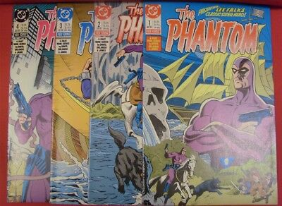 Phantom 1-4 Dc Comic Set Complete Lee Falk Peter David Orlando 1988 Vf/nm