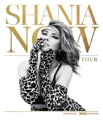 ** Shania Twain 2Nd Row Concert Ticket London 02 Arena 2Nd October 2018 Now Tour