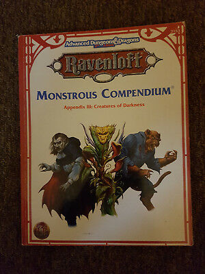 AD&D/Advanced Dungeons & Dragons -Ravenloft Monstrous Compendium Appendix III