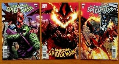 Amazing Spider-Man 798, 799, 800, 801 Ramos Connecting Variant Covers Marvel NM