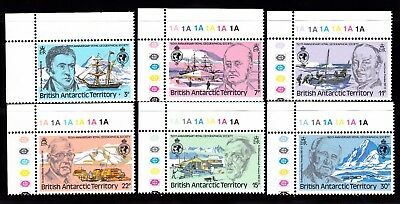 British Antarctic Territory #76-81 Mnh Royal Geographical Society