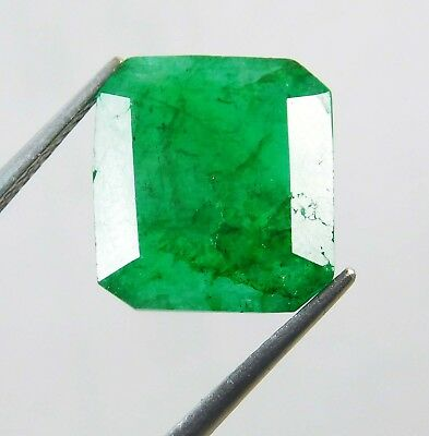 Natural 5.75 Ct Certified Emerald Cut Colombian Loose Emerald Gemstone. GH11078