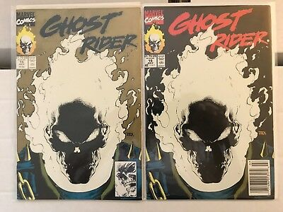 GHOST RIDER #15 Glow in the Dark Cover Newsstand & Gold VARIANT 1991