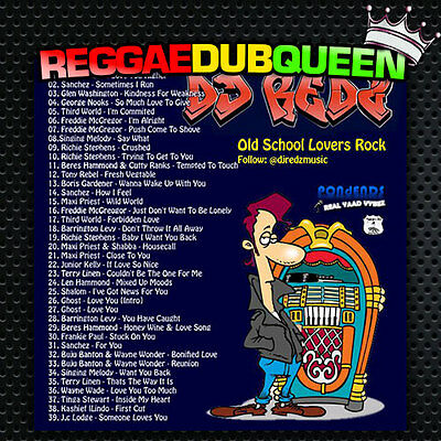 DJ Redz - Old School Lovers Rock Mixtape. Reggae Mix CD.