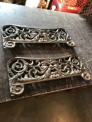 2available price separate antique cast brass bronze North Wind face grill 21 …