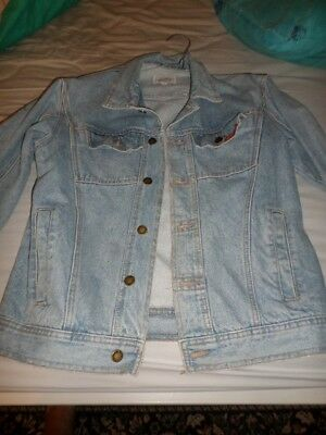 DENIM JACKET BY BRITTANIA MEDIUM SIZE FROM THE LATE 1980s,EARLY 90s