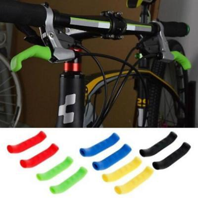 2X MTB Bike Bicycle Scooter HandleBar Grip Brake Lever Rubber Cover Protector B
