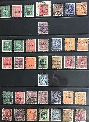 Germany: 1920 Upper Silesia 1920-1922 Official issues MNH/MLH & Used