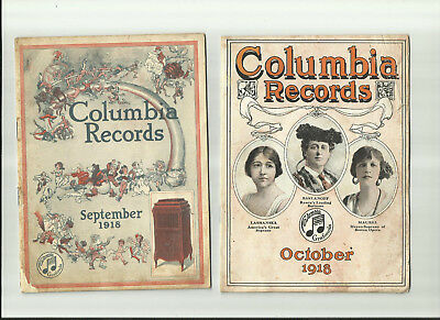 Columbia Records  September & October 1918  Sales Catalogs