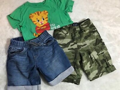 5t boys lot shorts top camo childrens place old navy cherokee