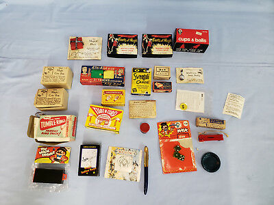 Antique Magic Items Cards, Dice, Ropes, Boxes, Etc  All Mint In Orig Boxes