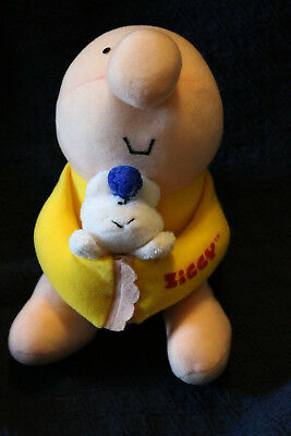 """1980s Ziggy & Fuzz 8"""" Stuffed Plush Toy-Excellent Condition-FREE SHIPPING"""