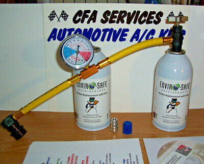 1994-OLDER / R12 COMPATIBLE REFRIGERANT / RECHARGE KIT 2 CANS MAXI FRIG 12a