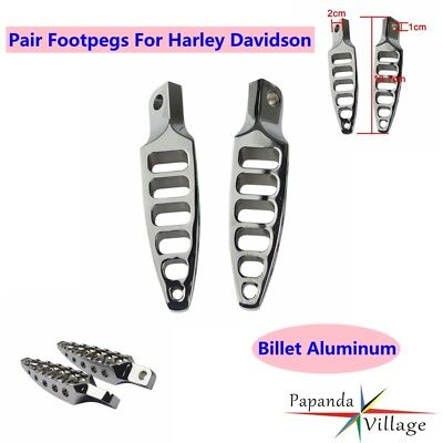 Pair Motorcycle Billet Aluminum Footpeg Foot Rest For Harley Sportster Dyna New