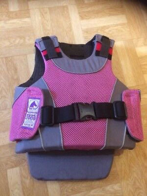 Harry Hall Body Protector Level 3,  Size child's medium  in Pink/Grey
