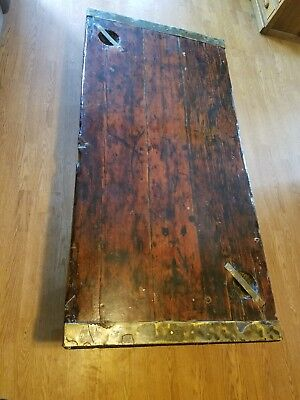 Antique WWII Liberty Ship Hatch Door Coffee Table