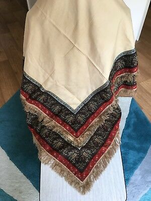 Antique Vintage Large Shawl Wrap Art Deco 1920s 1930s Fabric