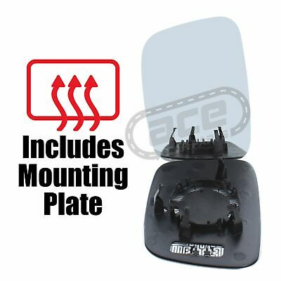 Volkswagen Caddy Van 3//2004-2010 Heated Blue Convex Mirror Glass Passenger Side