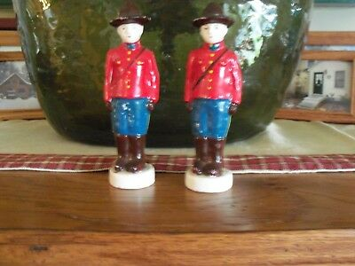 Royal Canadian Mounties Salt and Pepper Shakers Crystal Beach, Ontario, Canada