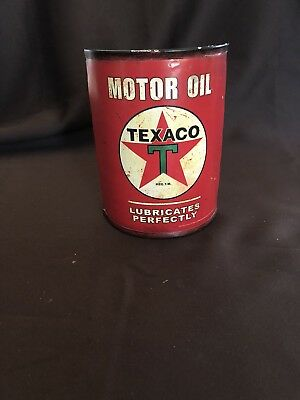 Motor Oil Texaco Curved (Half Can) Lubricates Perfectly Sign, Official Licensed
