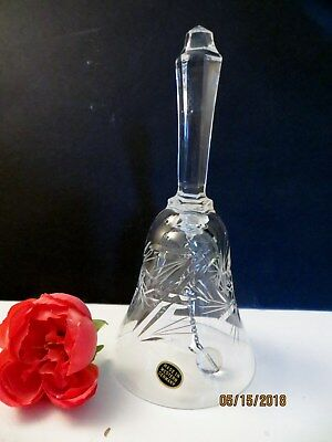 "Lead Crystal Glass Bell *  6"" Tall * Perfect Condition"