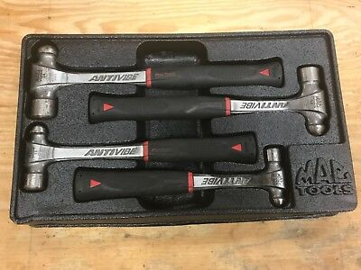 MAC Tools BH4AVS 4-pc ANTIVIBE Ball Peen Hammer Set USED LOOK