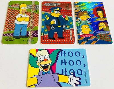 THE SIMPSONS - special card sorprese KINDER FERRERO '99 Matt Groening NUOVE NEW