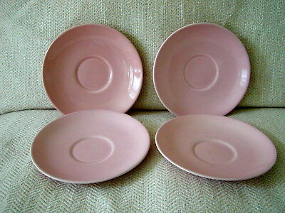 Lot of 4 TS&T LuRay Pastels Pink Saucers