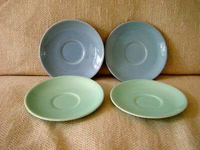 Lot of 4 TS&T LuRay Pastels Blue & Green Saucers