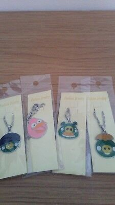 4x Angry Birds Style Necklaces