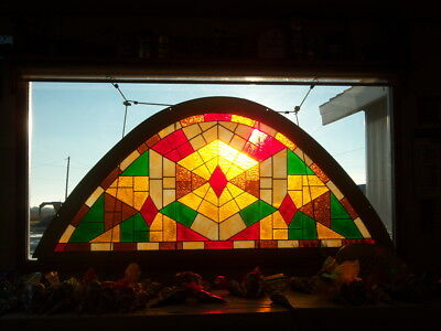 Bell Shaped Stained Glass Window