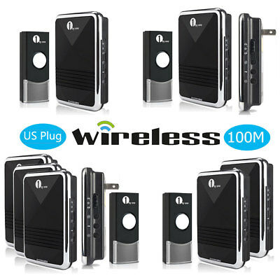 1Byone Doorbell Wireless Button Chime Waterproof Digital Receiver Door Bell LED