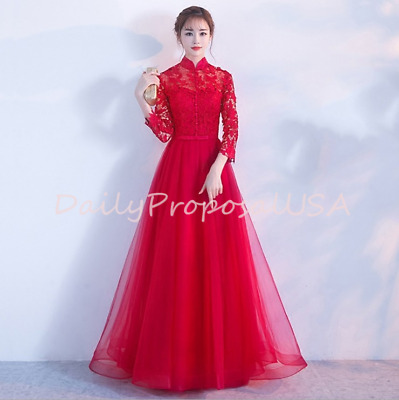 Chinese Wedding Dress.Red Cheongsam Qipao A Line Trumpet Mermaid Chinese Wedding Dress Xxs Xxl Usa