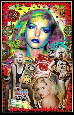 """Debbie Harry / Blondie -11x17"""" collage poster - signed by artist"""