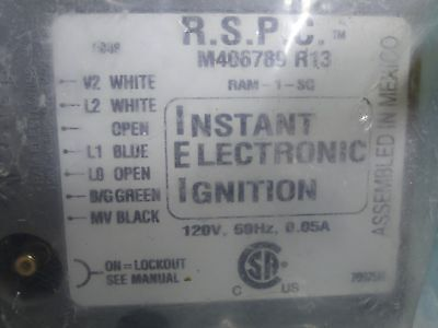 RSPC Instant Electronic Clothes Dryer Ignition Control M406789 R13 RAM-1 Factory