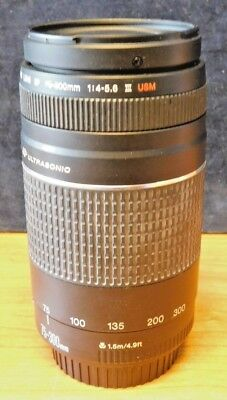 CANON Zoom Lens EF 75-300mm 1:4-5.6 Ultrasonic Made in Japan