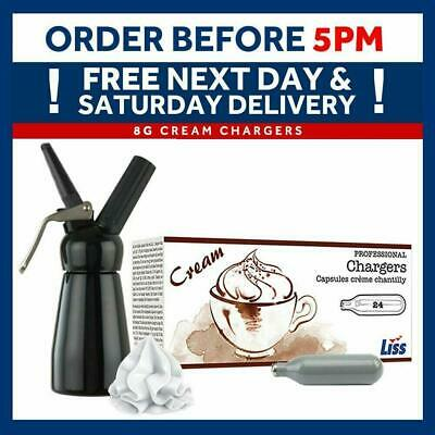 Liss x 8g Whipped Cream Chargers Whipping Canisters ADD Whipping Dispenser