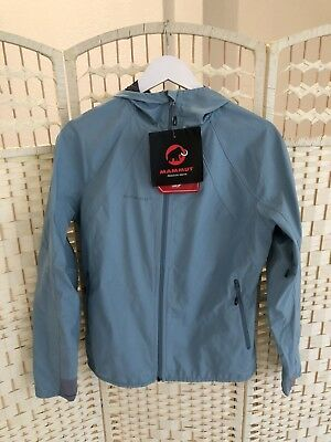 WOMEN S MAMMUT ULTIMATE LIGHT SO HOODED JACKET Air Blue Large 6ef6f486d0d