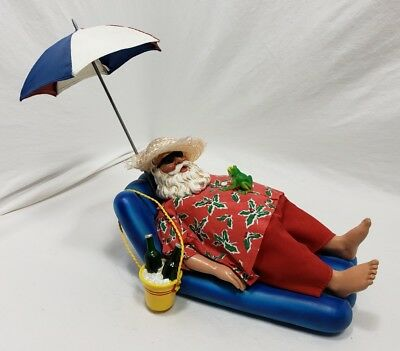 VINTAGE ULTRA RARE!! Clothique FABRICHE BEACH SNORING SANTA WITH FROG.