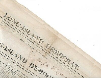 Long-Island Democrat. Jamaica, (L..i) Two Issues Asugust 15 & October 17, 1843