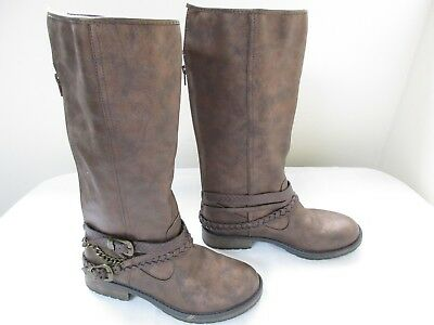 New! Girl's Youth Stevies #Textme Zipper Riding Boots Bronze 301B pc
