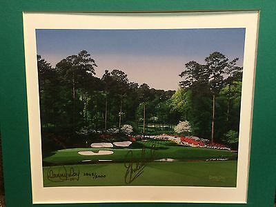 """Graham Marsh """"12th at Augusta"""" Autographed Danny Day Lithograph"""