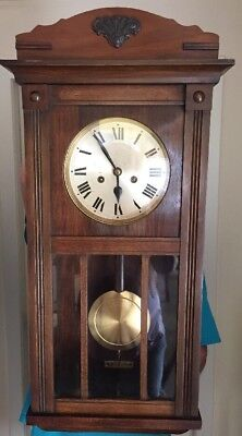 "H A C Wall Clock 31"" Tall. Early 20th C"