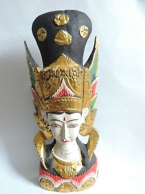 "20"" Asian Wood Carved Figure"