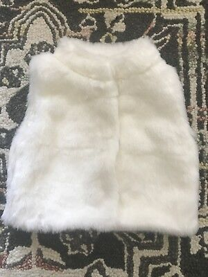Baby Girl White Fur Vest 18 Months Carters